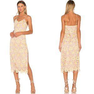 Revolve x NBD Donna Dress in Yellow Sunshine Lace